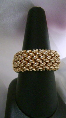 Gold ring – 18 kt – size: 20.1 – no reserve price