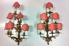 A pair of Baroque sconces - Italy - early 20th C