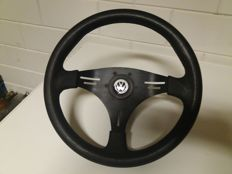 Leather sports steering wheel - volkswagen - 1970s