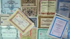 Collection of 30 antique shares of 1868 Some are very decorative.