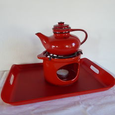 Jasba tea pot with table warmer - serving tray IRA Denmark