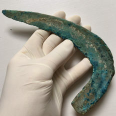 Bronze Age / Bronze Decorated Sickle - 174 mm