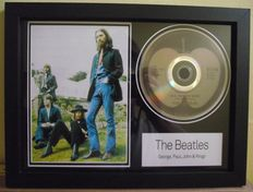 The Beatles, framed photo and  CD disc. 'Old Brown Shoe', Apple label( B Side ).