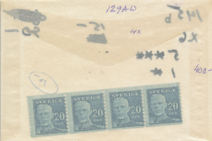Sweden 1911/1945 - Extensive trade supply in 227 bags.