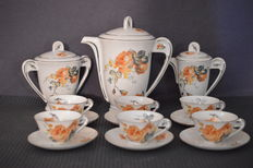 Eichwald and Bloch - Bohemian porcelain art deco service