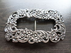 Large silver Louis XV - style buckle, Netherlands ca 1900