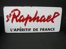 St. Raphael - enamel sign - Langcat Bussum - from the 50s/60s