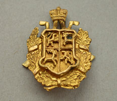 Russian Empire Bronze Gold Plated Cockade Coat of arms