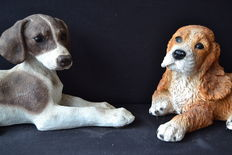 Castagna resin dogs - pair - Italy 90´s