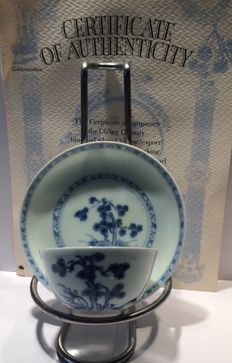 Nanking cargo tea bowl and saucer - China - circa 1750