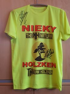 Nieky Holzken - World champion kickboxing - official training shirt original signed + COA