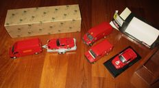Giocher / Old Cars - Scale 1/43 - Lot with 6 models: 3 x Transporters, 2 x Ferrari & 1 x Trailer