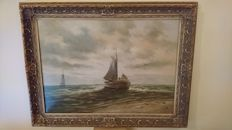 Brocante frame of 20th century oil painting
