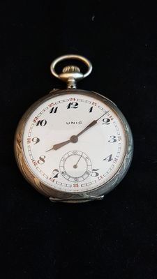 Unic Superreserve Silver Pocket Watch, 1950-1960's