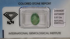 Emerald – 3.57 ct – No reserve price