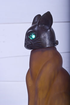 Andrea by Sadek, beautiful cat-shaped desk lamp.