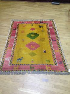 Persian Gabbeh rug, hand knotted - 198 x 158 cm