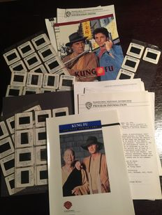 Kung Fu & Kung Fu The Legend continues - Presskits for Tv Station - David Carradine - with info sheets, slides and flyers