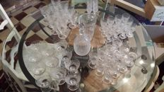 48 pieces crystal set, signed DAUM, France, second half of the 20th century