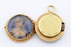 Solow Watch Company, Geneva. Pocket watch/ to hang, for ladies High standard collection. Circa, 1890-1900.