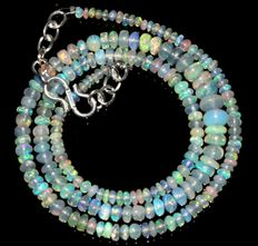 Ethiopian Opal beads necklace from 2 to 6 mm