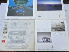 4 x Porsche calendar, including 2 limited copies 50 Jahre Porsche