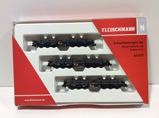 Fleischmann N - 845507 – 3-piece heavy load carriage set of the NS (lot 660)