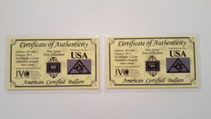 ACB Palladium Investment Pack with Certificates of Authenticity