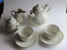 Richard Ginori - Porcelain tea service of 9 pieces - Italy