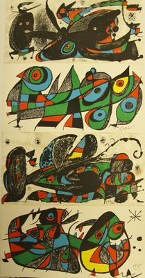 Joan Miró - Grand Bretagne - Japan - Iran - Italy