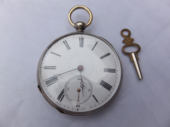 Beautiful silver pocket watch, Europe, end of the 19th century
