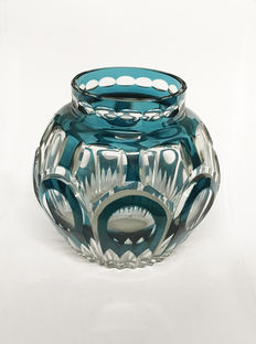 Beautiful vase Art Deco pin-holders by Val Saint Lambert