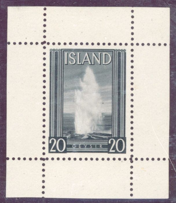 Iceland, 1937 – 20th Anniversary of Icelandic Independence, issued by Thomas de la Rue