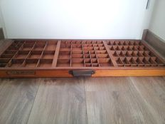 Antique Typecase with Brass fittings
