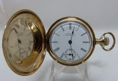 Waltham. Lady's pendant watch, 14 kt gold, saboneta. Year 1882.