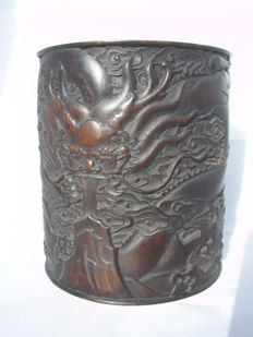 Bamboo pencil holder - China - end 20th century