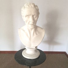 1 plaster bust of Alabaster by Antonio Canova, sculptor