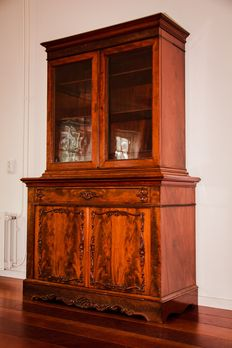 "Mahogany ""armoire à deux corps"", around 1840."