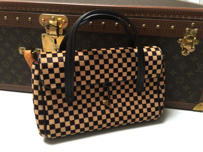 8b809751d96d Louis Vuitton – Damier Ebene – Pony leather hand bag - Catawiki