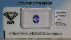 Tanzanite - 1.30 ct - no reserve price