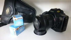 Canon Eos 650 with Canon EF 35-105 objective