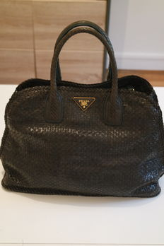 Prada - Superb plaited bag - limited edition.