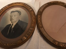 2 x magnificent wooden oval frame