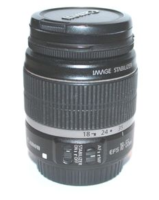 Canon zoom lens EF-s 18-55 F/3.5-5.6 IS image stabilizer