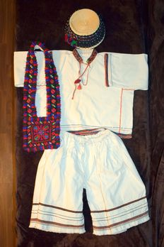 Country folk child's costume from ethno-folkloric area OAȘ - Romania - circa 1950