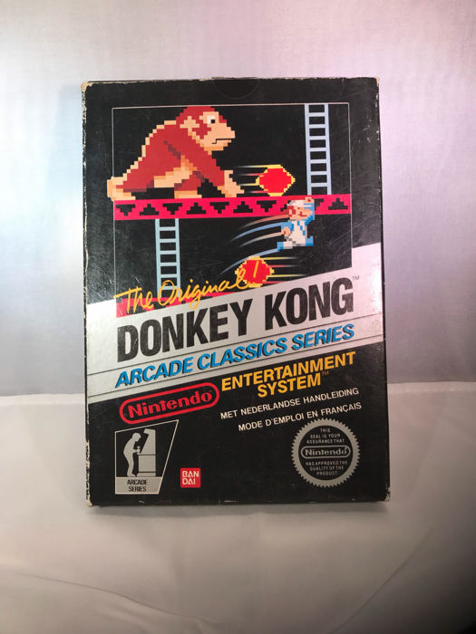 rare nintendo nes black box donkey kong hol fra code catawiki. Black Bedroom Furniture Sets. Home Design Ideas