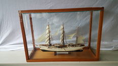 USCGC Eagle in glass display case