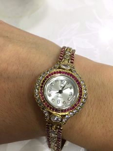 Handmade, 925 sterling stamped,  silver jewellery, women's watch, new condition.