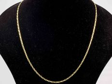 18 kt gold necklace chain •••FIGARO•••