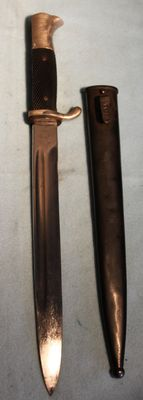 Parade model Bayonet/Dolch, long model Germany, with sheath, -in very good condition, Maker: Puma, Solingen, w.w. 2